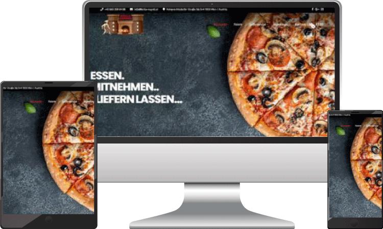 Essen Bestellsystem, bella-napoli.at