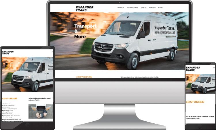 Expander Trans Transport Webseite, Webseite-erstellen-wordpress-wien-webdesign, expandertrans.at