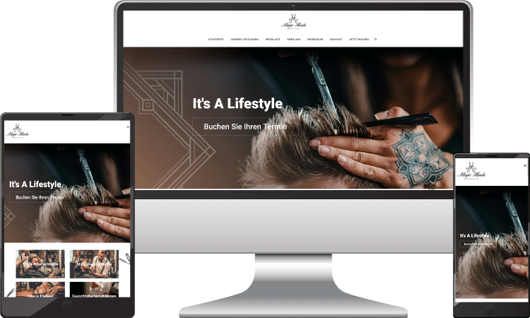 Barber Webseite, Webdesigner Wien, magichands-hair.at