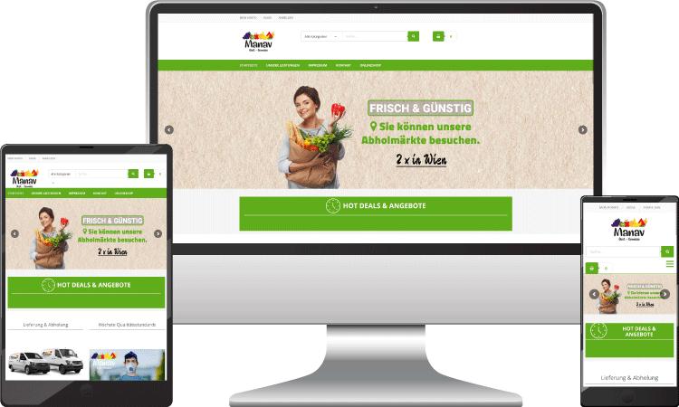 Lebensmittel Online Shop, manav.at