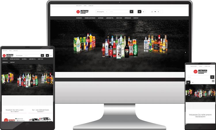 Grosshandel Online Shop, metropol-getraenke.at